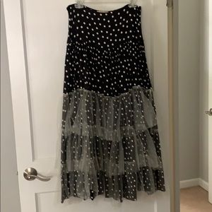 Dresses & Skirts - dotted tiered tulle long maxi, size M